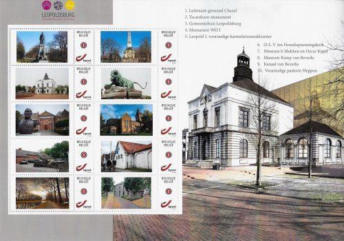 Er mooie postzegels van Leopoldsburg, Heppen en het Kamp van Beverlo bestaan?