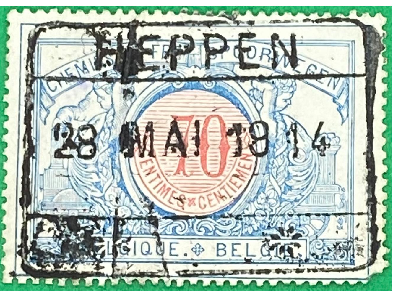 Postzegel Heppen